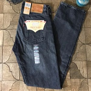 Levi's straight leg button fly distressed jeans